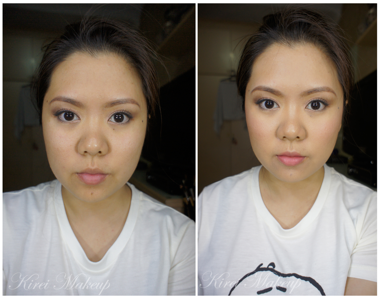 subtle highlight contour and blush kirei makeup