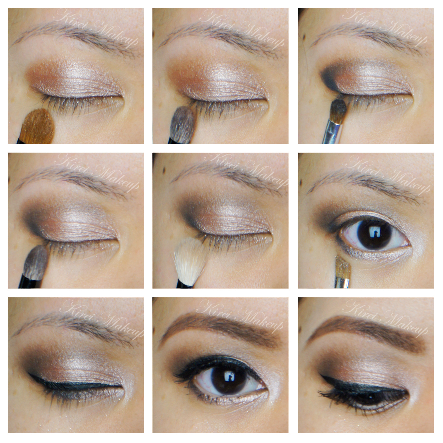 neutral smokey eyes using urban decay naked palette. Black Bedroom Furniture Sets. Home Design Ideas