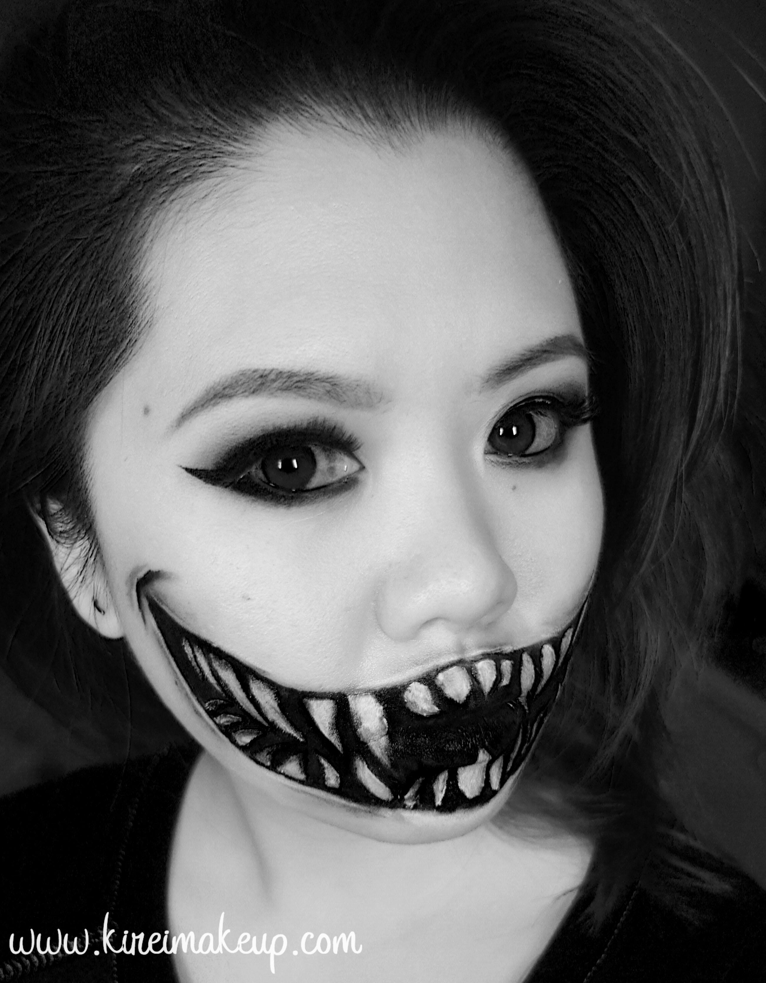 Halloween 1 monster teeth kirei makeup halloween makeup tutorial solutioingenieria Choice Image