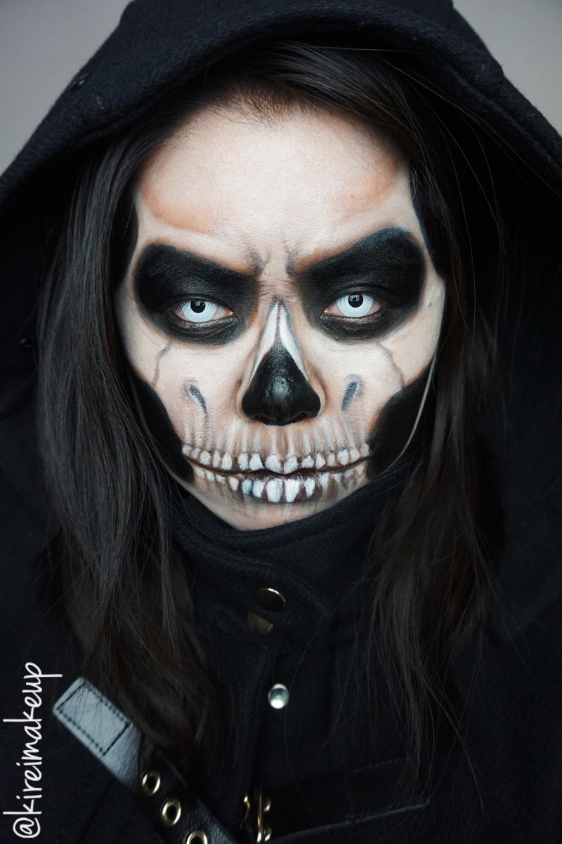 Grim Reaper Halloween Makeup - Kirei Makeup