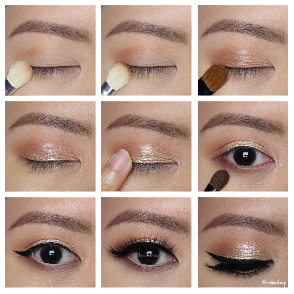 Gold New Year Party Makeup Tutorial - Kirei Makeup