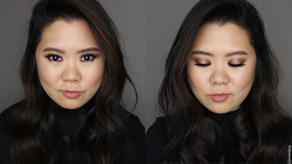 mauve halo smokey eyes