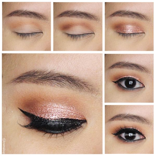 stila rose gold retro makeup tutorial