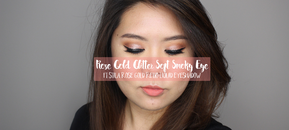 Stila Rose Gold Retro – Night Out Makeup Look