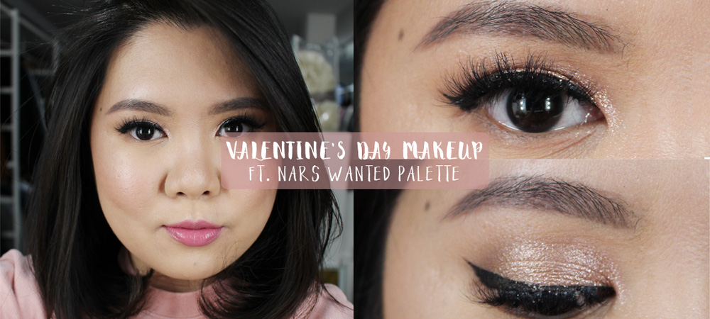 Cute Valentine Makeup ft. NARS Wanted Palette